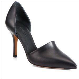 Vince Claire D'Orsay Black Leather heel Size 7.5